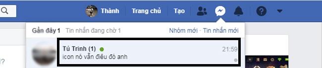 Cách sử dụng inbox trên facebook. Ảnh 2
