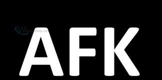 AFK nghĩa là gì. Ảnh bìa